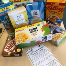 Cereals donated to Carmarthen Food Bank