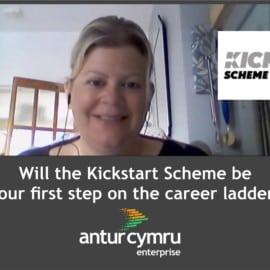 Toni Godolphin Kickstart Officer at Antur Cymru Enterprise talks about Kickstart work placements