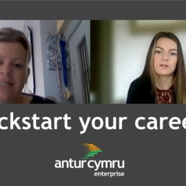 Toni Godolphin our Kickstart officer talks to Elysia Jones our new Marketing Assistant on the Kickstart Scheme Wales.